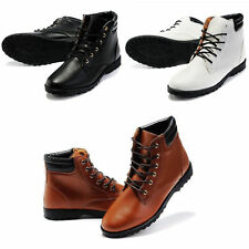Hot Winter Men's Leather shoes England Hip-hop High shoes Casual Ankle Boots Q20