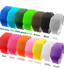 Unique Silicone Touch Screen LED Digital Rubber Band Wristwatches for Men Women