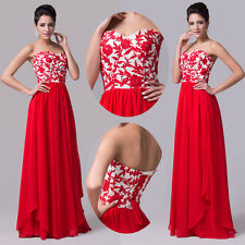 2014 New Long Red Chiffon Prom Gown Evening/Formal/Party/Cocktail/Prom Dress !!!