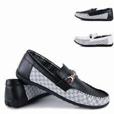 Men England Metal Casual Zapato Driving Moccasin Loafer Dress Slip-On Shoes NN59