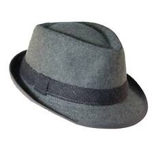 New Dorfman Pacific Mens Wool Blend Fedora Hat with Herringbone Band