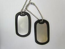 2 Blank Military Dog Tags With Silencers. Choice of colors.
