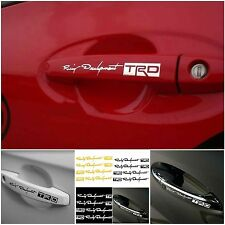 4PCS Reflective TRD Racing Development Doorknob Car Handle Decal Vinyl Stickers