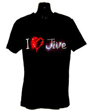 I LOVE JIVE CHILDRENS T SHIRT      CRYSTAL RHINESTONE DANCE DESIGN...any size