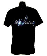 IRISH DANCING CHILDRENS T SHIRT      CRYSTAL RHINESTONE DANCE DESIGN...any size