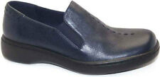 Women's Naturalizer Music Casual Shoe Slip On Loafers Navy Leather Extra-Wide
