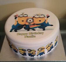 Despicable Me Minions 3 Edible Icing/Frosting Birthday Cake & Cupcake Toppers