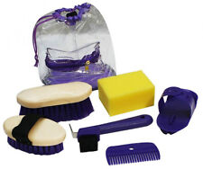Showman Kid's 6 pc Grooming Kit with Carry Bag! BLUE PINK! or PURPLE  FREE SHIP!