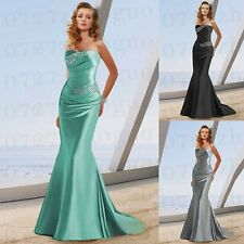 New Silver Long Mermaid Beaded Evening Dress Party/Formal Gown Wedding Gown 6-16