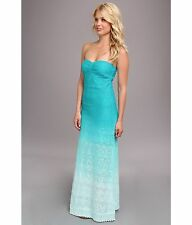 NWT Roxy Rolling Wave Strapless Maxi Dress Beach Ombre Blue MRSP $59.50 SM MED
