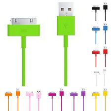 USB Sync Data Charger Cable Cord for iPhone 4S 3GS iPod Mini 1/2/3M Colorful