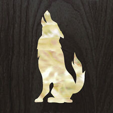 Wolf (White Pearl) Inlay Stickers Decals Guitar Bass Headstock