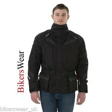 Rayven Nexus Black Textile Waterproof Motorcycle Jackets With Removable Collar