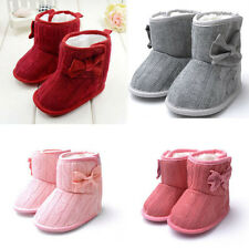 Pretty Toddler Booties Girls Winter Warm Soft Sole Baby Boots Crib Infant Shoes