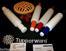 Tupperware Rolling Pin Style & Color CHOICE ~WHITE ~RED ~ORANGE ~BLUE ~SPECKLED