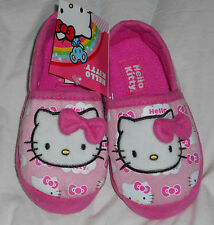 Hello Kitty Slippers Pink Toddler Size 9/10 or Size 11/12 NWT