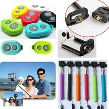Bluetooth remote Shutter + Monopod holder Stick Set for iPhone Samsung Android