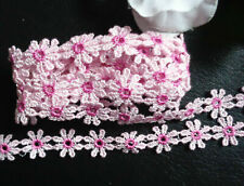 1/2 inch Wide Daisy Flowers Lace Trim-selling by the yard -  select color