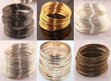 Wholesale100/500 Loops Silver/Gold Plated Memory Steel Wire Bangle Bracelet 60mm