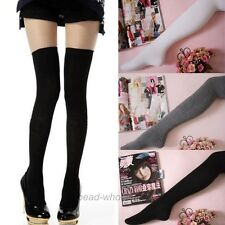 1Pair Women's White/Black/Grey/Coffee Long Socks Thigh-Highs Over Knee Stockings