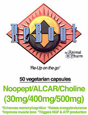 Noopept ALCAR Choline (30/400/500mg) capsules 99%+ pure Memory Nootropic Study