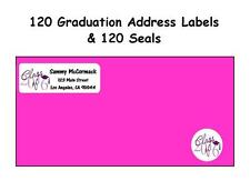 120 Class of 2015 Graduation Address Labels -Personalized & 120 Envelope Seals