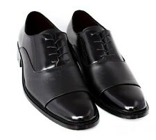 Mens Black Dress Wedding Shoes Oxfords Faux Leather Formal Size 9 10 11 12 13 14