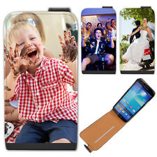 Personalised Custom Your Picture Leather Flip Case For Samsung Galaxy Models