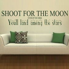 Shoot For The Moon Interior Wall Quote Stylish Removable Wall Quote niq49