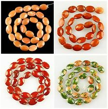 J60149 Faceted gemstone ellipse loose beads,More stone to select