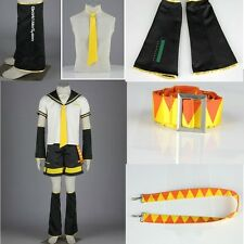 Japan Anime Vocaloid Family Kagamine LEN Cosplay Costume Outfit Any Size Party