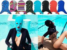 NEW bikini Face-kini Sun Protection swim mask UV Rash Guards Snorkeling Swim Cap
