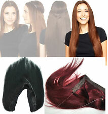 "Indian Remy Halo Flip In Human Hair Extensions No Clip In Miracle Wire 14""-30"""