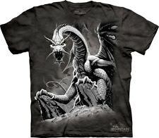 Black Dragon Kids T-Shirt from The Mountain. Dragon Boy Girl Child Sizes NEW