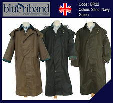 NEW BLUE RIBAND MENS LADIES WAX COTTON JACKET CAPE COAT OUTBACK STOCKMAN
