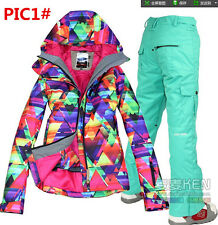 HOT 2014Gsou snow NEW Girls Women's ski snowboard snow jacket Coat and pants