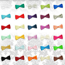 Boy's Plain Satin Special Occasions wedding Pre-Tied Bow Tie - 3 - 12 Years Old