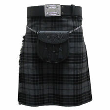 Tartanista Grey Granite Plaid 5 Yard 10 oz Scottish Highland Value KILT 30-54