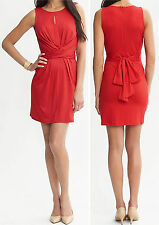 Banana Republic $130 Issa Collection Red Wrap-Tie Dress Size 8P,10P,12P,12,14