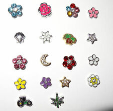 Nature Flower Floating Charm Fit Origami Owl Living Lockets