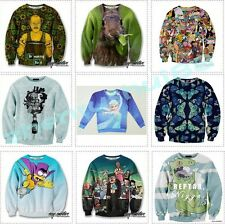 2014 Autumn European Men's Women's 3D Animals Sweatshirt,T-shirt,Cartoons