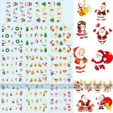 New Christmas Santa Water Transfer Nail Art Tips Sticker DIY Manicure Decoration