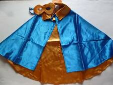 GYMBOREE Halloween Costume Boy Blue Gold Super Hero Cape Mask Sizes XS/S M/L NEW