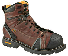 "Mens Work Boots Thorogood 6"" Composite Safety Toe Brown Leather (E,W) 804-4445"
