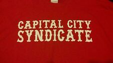 HELLS ANGELS SUPPORT T-SHIRT RED CAPITOL CITY