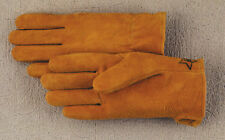 #100 Suede Deerskin Leather Driving Riding Gloves Made in America Sm, Med