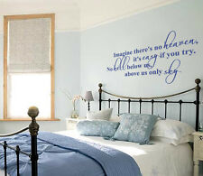 Imagine (John Lennon) Lyric wall decal sticker quote