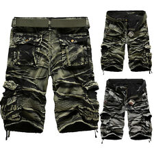 Relaxed 8Colors Loose Fashion Shorts Camo Mens Cargo Short Trousers Classic Army