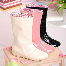 Fashion Ladies Sexy Rain Boots Skid Resistance  Woman Shoes