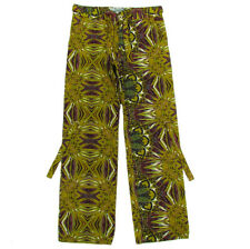 """ROBERTO CAVALLI """"Psychedelic Hippie"""" mens casual pants trousers (green) NEW"""